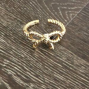 Gold My Flat in London bow bracelet